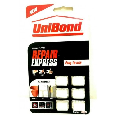 UniBond Repair Express Power Putty 6 x 5g Doses