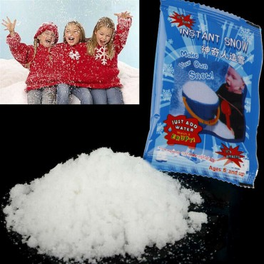 Artificial Snow Instant Snow Powders Fluffy Snowflake Frozen Party Plo 9g