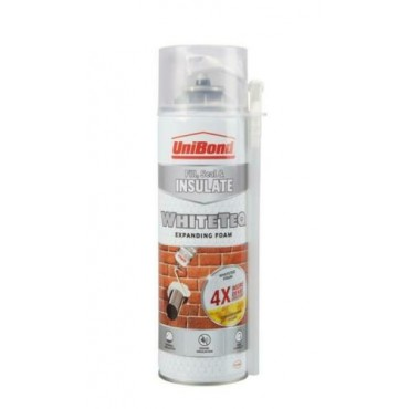 UniBond WhiteTeq Expanding Foam Filler Fill Seal Insulate Wood Stone Plastic 500ml