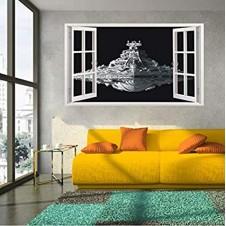 wall sticker 3d Star Wars  Star Destroyer Waterproof Wall Sticker Decals Window