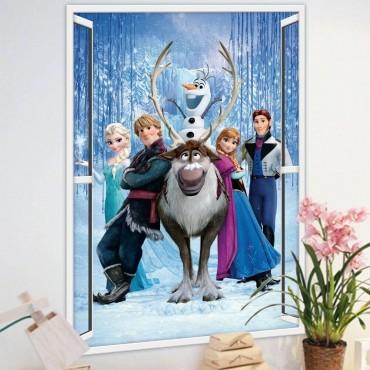 wall sticker 3d Princess Elsa Anna Diy Frozen Girl Children Room