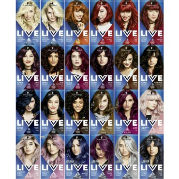 Schwarzkopf Live Intense Colour Permanent,Semi Permanent Hair Dye-All colours
