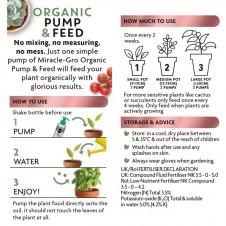 Miracle-Gro Organic Pump & Feed Liquid Houseplant Food, 200 ml