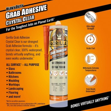 Gorilla Heavy Duty Grab Adhesive Crystal Clear 270ml