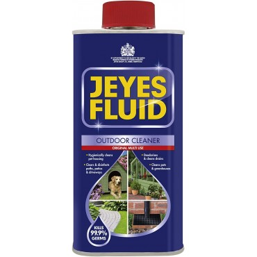 Jeyes Fluid Outdoor Cleaner & Disinfectant for Paths, Patios, Driveways, Pet Housing & Unblocking Drains, 300ml