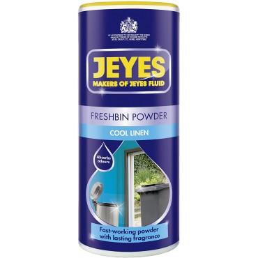 Jeyes Freshbin Powder, Bin Freshener for Indoor & Outdoor Bins, Cool Linen, 550g