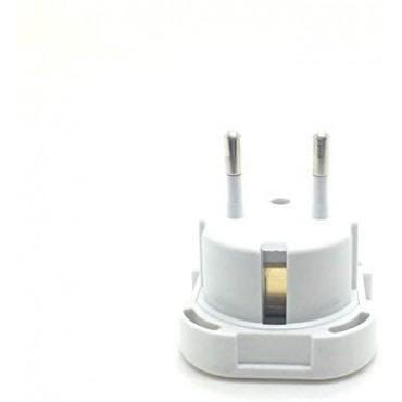 Travel Adaptor White UK to EU Europe European Q4U® Convert Power UK plug 3 pin to European Plug 2 Pin
