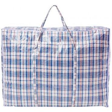 Laundry Bags Zipped Reusable Large Strong Shopping Jumbo (100X70X30 CM)