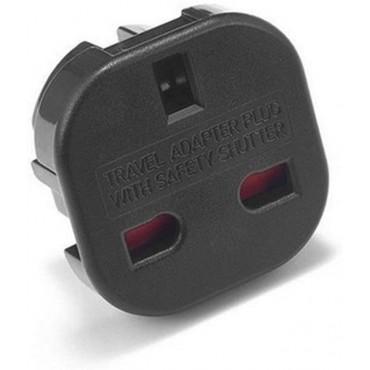 Travel Adapter Plug (UK TO US/AUS/CANADA, Black)