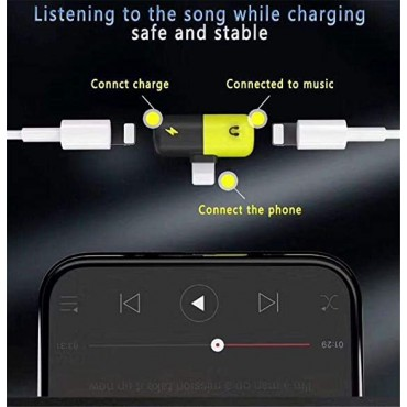 Charging and Listening Capsule Shape Splitter Adapter for iPhone