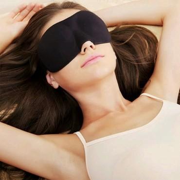 Padded Blindfold 3D Eye Mask Soft Travel Sleep Rest 3D Eye Shade Sleeping