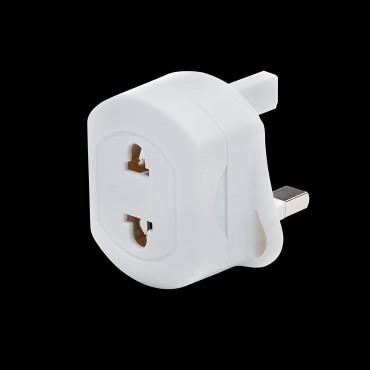 EU 2 Pin To UK 3 Pin Fused Adaptor Plug for Shaver/Toothbrush