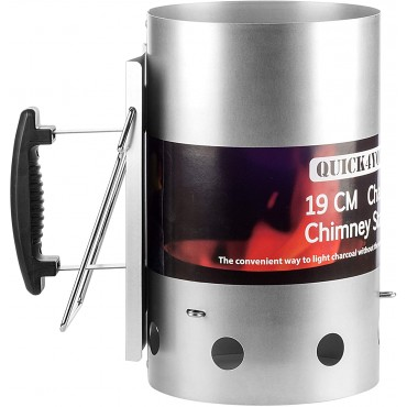 Charcoal  Chimney Starter, Barbecue Charcoal Quick Start Lighter with Safety Handle