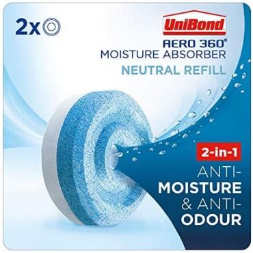 UniBond AERO 360 Moisture Absorber Neutral Refill Tab Twin Pack (2 x 450g)