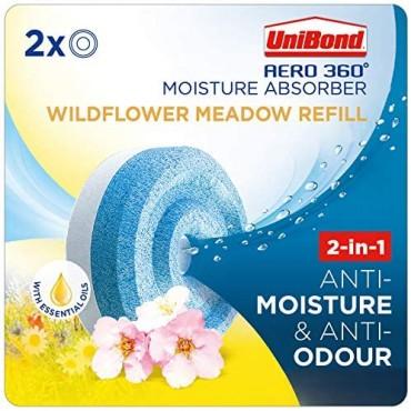 UniBond AERO 360Moisture Absorber Wildflower Meadow Refill Tab Pack (2 x 450g)
