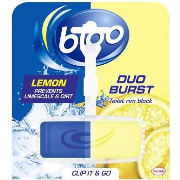 Bloo Duo Burst Lemon Toilet Rim Block, 40 g