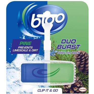 Bloo Duo Burst Pine Toilet Rim Block, 40g