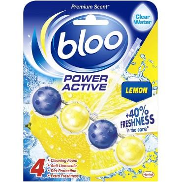 Bloo Power Active Toilet Rim Block, Lemon, Clear Water  50g