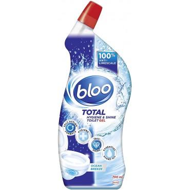 Bloo Total Hygiene & Shine Gel Sea Breeze Blue Toilet Cleaner, 700 ml
