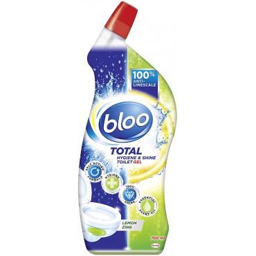Bloo Total Hygiene & Shine Toilet Gel Lemon Zing, 700 ml