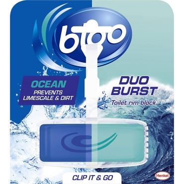 Bloo Duo Burst Ocean Toilet Rim Block, 40g
