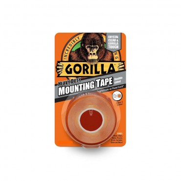 Gorilla Mounting Tape, 25.4 mm x 1.52 m Heavy-Duty Double Sided