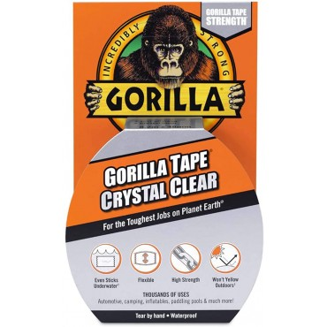 Gorilla Clear Repair Tape 8.2m x 48mm , 8.2 metr