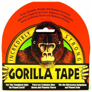 Gorilla Glue Black Tape 32m X 48mm Roll Incredibly Strong Duct Gaffer Tape