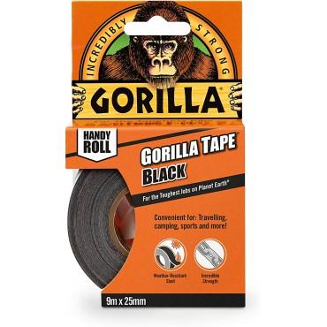 Gorilla Tape Mini Duct Tape To-Go Travel Size Black 25mm x 9m
