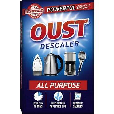 OUST All Purpose Descaler, 3X 25ml Sachets