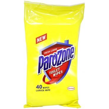 Parozone Germ Kill Fresh Lemon Toilet Wipes, 40 Wipes