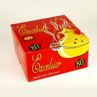 Excelsior Swift Lite Charcoal Tablets for Incense  (8 Packs of 10 Discs)